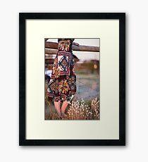 Dress and Grass Framed Print