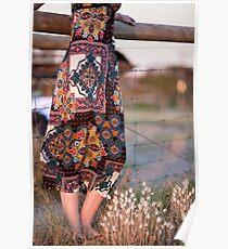 Dress and Grass Poster