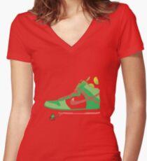 Bal-ang! Yoshi got dunks. Women's Fitted V-Neck T-Shirt