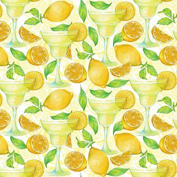 pattern with lemon by lisenok
