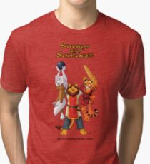 Swords and Sausages Tri-blend T-Shirt