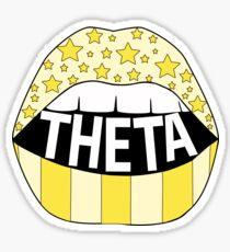 Theta Lips Sticker