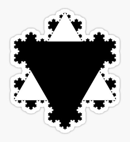 Koch Curve XI Sticker