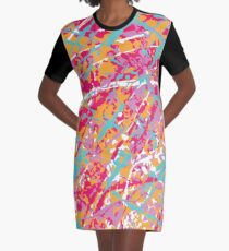 Artist Camouflage Graphic T-Shirt Dress