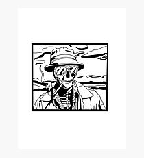 Fear and Loathing in Las Vegas Skeleton Illustration  Photographic Print