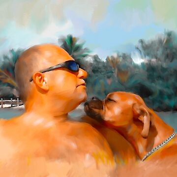 Custom dog portrait by NoraMohammed