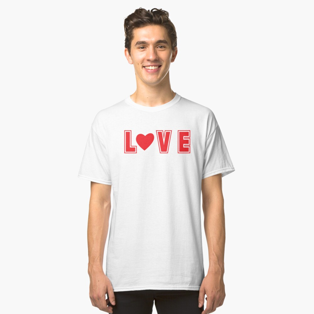 Love - a Loving Creation with a Red Heart (Design Day 344) Classic T-Shirt