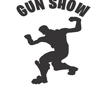 Gun show Dance Video Game Gamers Emote Funny Boys Kids by hlcaldwell