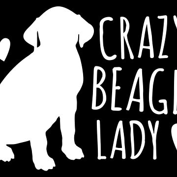 Crazy Beagle Dog Lady in white by jazzydevil
