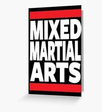 Mixed Martial Arts Greeting Card
