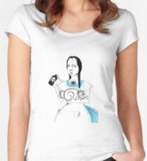 Wednesday in Wonderland Women's Fitted Scoop T-Shirt