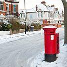 Snowy Letterbox in Idmiston Road, West Norwood, London. by DonDavisUK