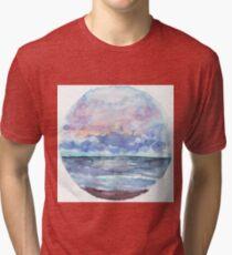 Sunset Ocean Sky | Paperness Tri-blend T-Shirt