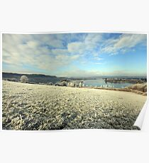 Inchiquin Lake in winter Poster