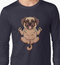 Cute Pug Yoga Namaste Spiritual Meditation Gift Long Sleeve T-Shirt
