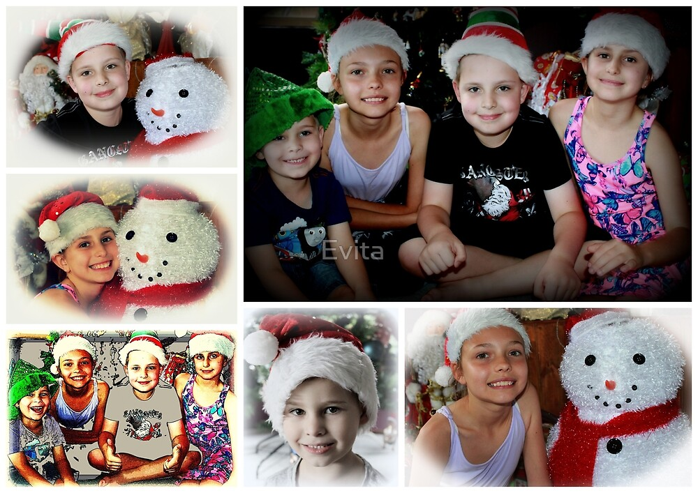 Merry Christmas Collage  by Evita