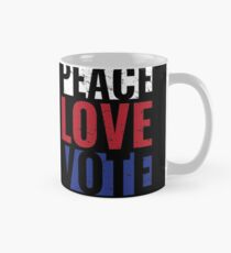 Peace Love Vote Gift Protest Vote for Midterm Elections Mug