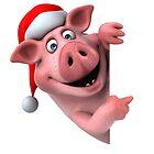 domestic pig of santa claus by matheusfiorino