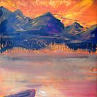 Canoe In The Sunset by Colleen Ranney