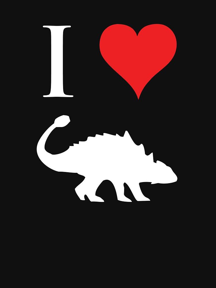 I Love Dinosaurs - Ankylosaurus (white design) by jezkemp