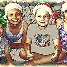 Frohe Weihnachten - Zeichnung 2018 von Evita