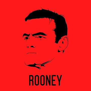Wayne Rooney Vector Design - T Shirt | Poster | Mug | Phone Case | Wall Art | Home Decor and more | Manchester United | England by footballicon67