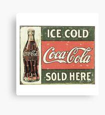 Ice Cold Coca Cola Canvas Print