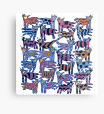Colorful Abstract Coyote Metal Print