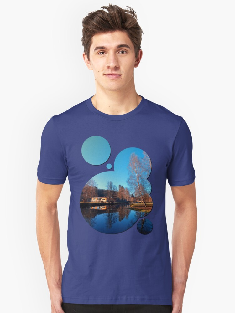 Winter mood on the river II | waterscape photography Unisex T-Shirt Front