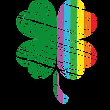 Irish Shamrock LGBT Rainbow St Patrick's Day by edgyshop