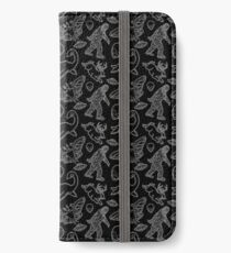 Cryptid Pattern lines White iPhone Wallet/Case/Skin