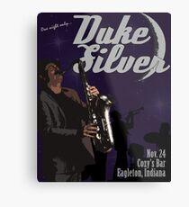 Duke Silver Metal Print