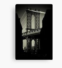 Manhattan Bridge in Brooklyn Canvas Print