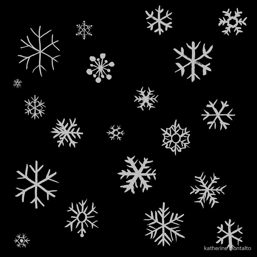 Snowflakes (white) by katherine montalto