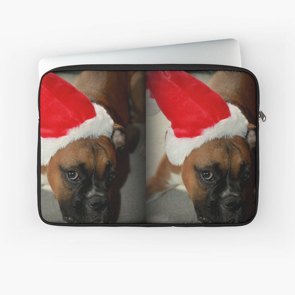 Dino ~ Santas kleiner Helfer ~ Boxer Dog Series Laptoptasche