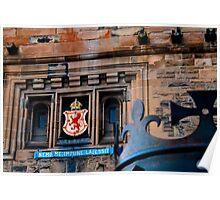 Lion Rampant at Edinburgh Castle Poster