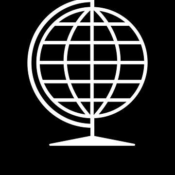 White Globe Travel World Globe by we1000