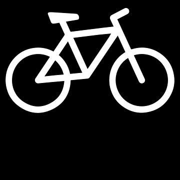 white Bike Bicycle Tshirt by we1000