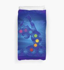 Yoga Pose Chakra Poster Duvet Cover