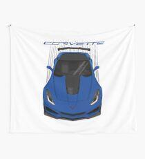 Corvette C7 ZR1 - Blue Wall Tapestry