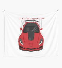Corvette C7 ZR1 - Red Wall Tapestry