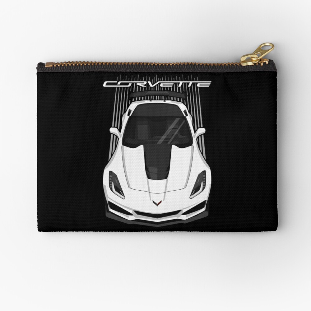Corvette C7 ZR1 - White Zipper Pouch