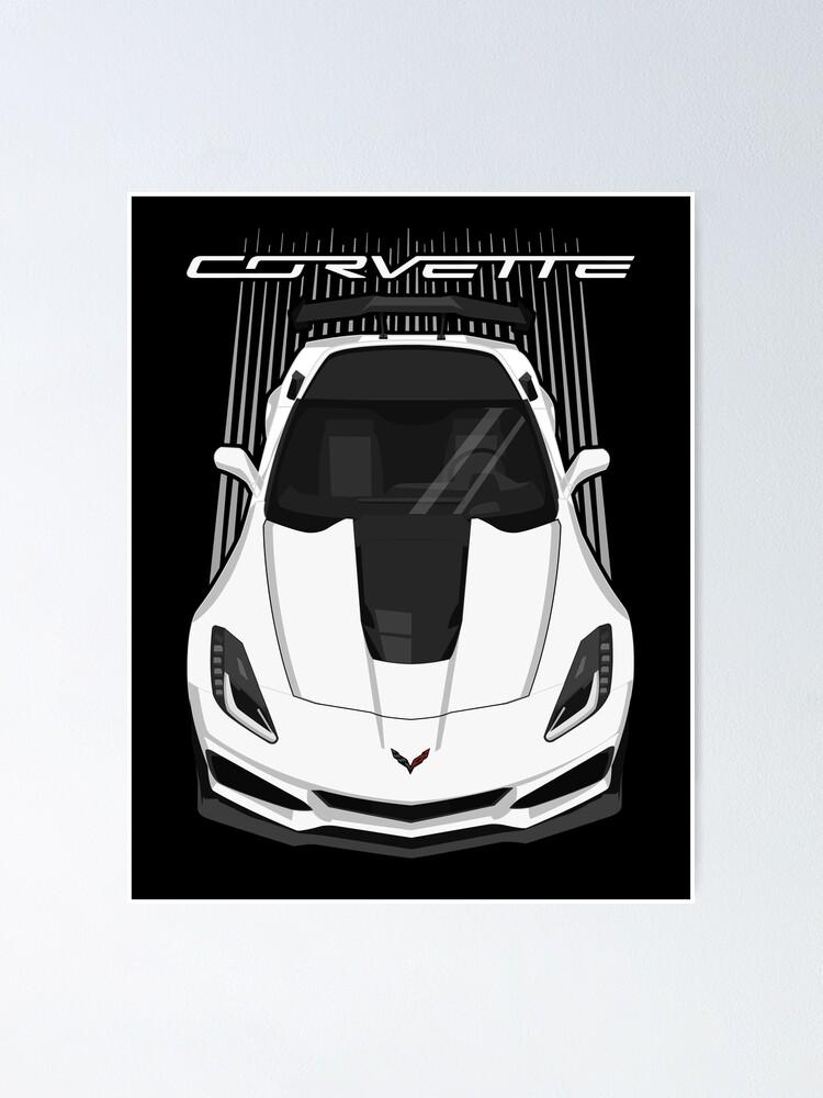 Alternate view of Corvette C7 ZR1 - White Poster