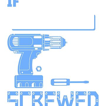 If [Custom Name] Can't Fix it We're All Screwed Stencil Blue by grouppixel