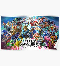 Super Smash Brothers Ultimate  Poster