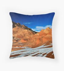 Sand Cove in Snow Throw Pillow