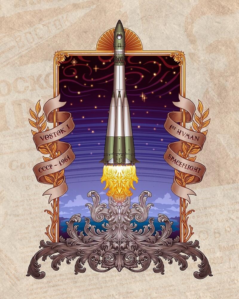 Vostok 1 - Erste bemannte Weltraumfahrt von Carlos Tato