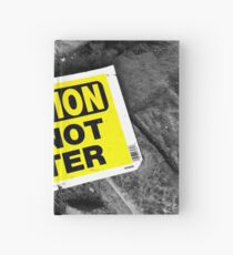 Caution Hardcover Journal