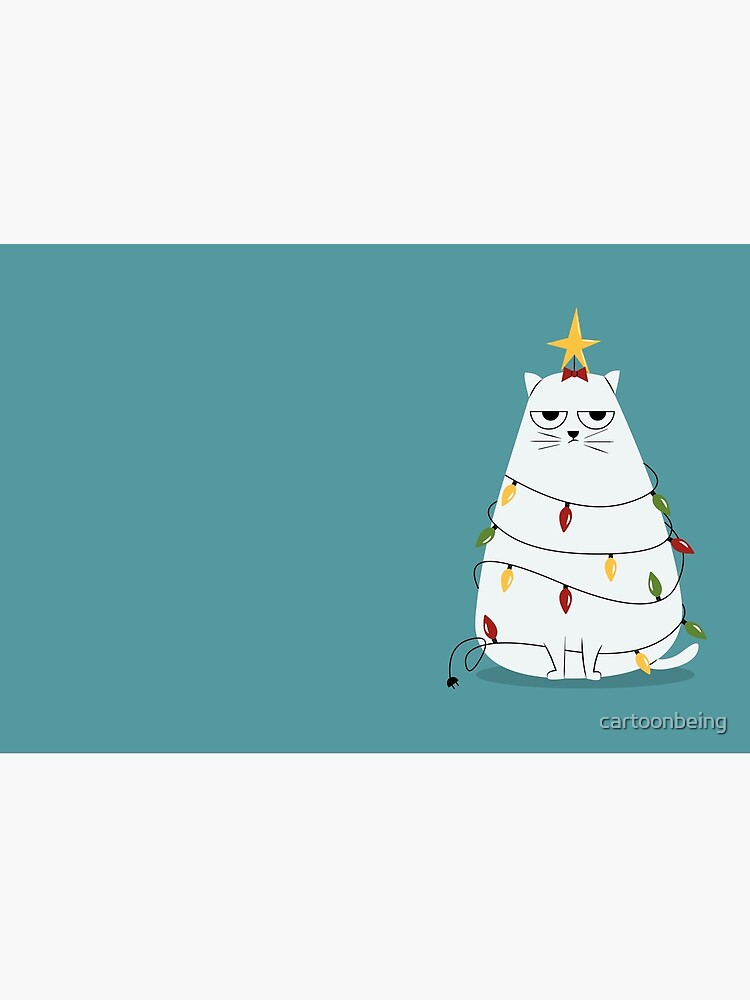 Grumpy Christmas Cat by cartoonbeing