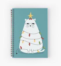 Grumpy Christmas Cat Spiral Notebook